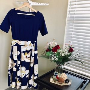 Vintage Swing Midi Dress WITH POCKETS